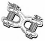 Double Hh Mfg 24096 Double Clevis 3/8""