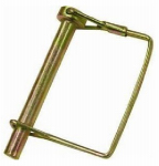 Double Hh Mfg 41972 Hitch Pin, Wire Lock, Square, 1/4 x 2-1/2-In., 2-Pk.