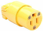 Pass & Seymour 4887YCC10 Commercial Connector Yellow 15A