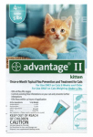 Premium Pet Products 83000490 Advantage II For Kittens, Turquoise, 4-Pk.