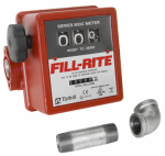 Tuthill 807CMK Flow Meter Kit, 3-Wheel, Painter Black