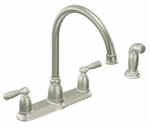 Moen/Faucets CA87000SRS Banbury Hi-Arc Kitchen Faucet, With Spray, 2-Handle, Stainless Steel