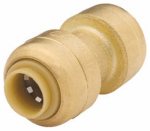 Sharkbite/Cash Acme U004LFA 1/4 x 1/4-In. Push Kit or Kitchen Pipe Coupling, Lead-Free