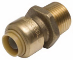 Sharkbite/Cash Acme U116LFA 1/2 x 3/4-In. MIP Reducing Pipe Connector, Lead-Free