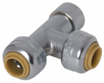 Sharkbite/Cash Acme U3358LFA 1/4 x 1/4 x 3/8-In. Stop Valve Pipe Tee Adapter