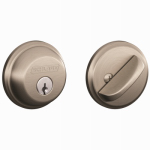 Schlage Lock B60NV619 Satin Nickel Single-Cylinder Deadbolt Lock