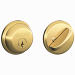 Schlage Lock B60NV505 Bright Brass Single-Cylinder Deadbolt Lock