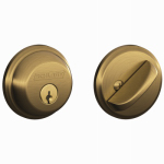 Schlage Lock B60NV609 Antique Brass Single-Cylinder Deadbolt Lock