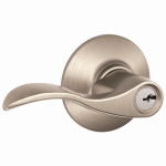Schlage Lock F51VACC619 Satin Nickel Accent Design Entry Lever Lockset