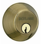 Schlage Lock B62NV609 Antique Brass, Double-Cylinder Deadbolt Lock