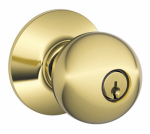 Schlage Lock F51VORB505 Bright Brass Orbit Design Entry Lockset