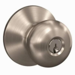 Schlage Lock F51VPLY619 Satin Nickel Plymouth Knob Entrance Lock