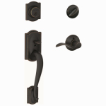 Schlage Lock F60VCAMXACC716 Camelot Handleset, Single Cylinder, Aged Bronze
