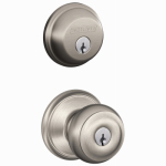 Schlage Lock FB50NVGEO619 Satin Nickel Georgian Design Combination Keyed Entry Lockset and Deadbolt