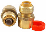 Sharkbite/Cash Acme 22604LF NPT Water Heater Kit, Sharkbite Push Fit Fittings, 1/2 x 3/4-In.