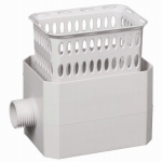 Amerimax Home Products 37042 Catch A Raindrop Harvesting Rainwater Colander, White, Fits Most 2 x 3-In. Downspouts