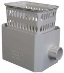 Amerimax Home Products 37043 Catch A Raindrop Harvesting Rainwater Colander, White, Fits Most 3 x 4-In. Downspouts