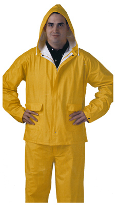 Tingley Rubber S62217.XL PVC Rainwear .25-Mm Double-ply Suit, Yellow, XL -
