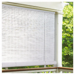 Lewis Hyman 0321106 Roll Up Blinds, White PVC, 120 x 72-In.