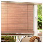 Lewis Hyman 0321246 Roll Up Blinds, Woodgrain PVC, 48 x 72-In.