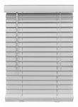 Nien Made Usa 5864FWW Mini Blinds, White Fauxwood, 2 x 58 x 64-In.