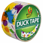 Shurtech Brands 280424 Paint Splatter Print Duct Tape, 1.88-Inch x 10-Yard
