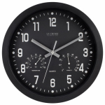 La Crosse Technology 404-2631 Wall Clock, Black, With Temp/Humidity, 12-In.