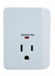 Kab Enterprise CT-042 Outlet Surge Tap, 900 Joules, White Plastic