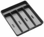 Madesmart Housewares 95-29605-06 Silverware Tray, Granite, 5-Comparment