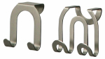 Spectrum Diversified Designs 67971 Double Hook, Over Cabinet/Drawer, Brushed Nickel, 2-Pk.