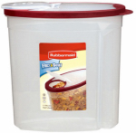 Rubbermaid 1777195 Cereal Keeper, Clear With Red Lid, 1.5-Gal.