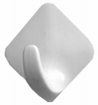 Spectrum Diversified Designs 27100 Hook, Magnetic, White Plastic, Small, 4-Pk.