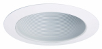 Cooper Lighting APERT707WHT Baffle, White Metal With Gloss Trim, 6-In.
