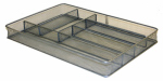 Honey Can Do Intl KCH-02162 Cutlery Tray, Metal Mesh, Large