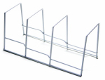 Honey Can Do Intl KCH-02165 Kitchen Organizer Plate Rack, White Wire, 10.2 x 5.8 x 5.2-In.