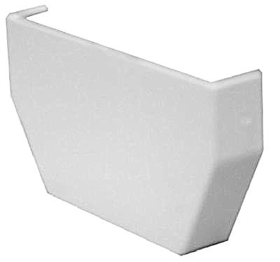 RW101 Gutter Inside End Cap, White Vinyl - Quantity 5
