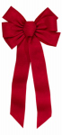 Holiday Trim 6672 Bow Ornament, 7-Loop, Red Embossed, 12 x 26 x 3-In.