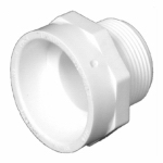 Charlotte Pipe & Foundry PVC 00103  0600HA 1-1/2x1-1/4 MPT Adapter