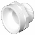 Charlotte Pipe & Foundry PVC 00109  1200HA Plastic Pipe Fitting, DWV  Male Pipe Thread Adapter, PVC, 2-In.