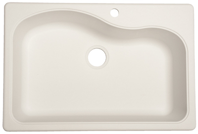 Franke White Composite Sink : Franke 22x25x9 Inch White Single Bowl Granite Composite Kitchen Sink ...
