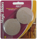 Magic Sliders L P 63003 Surface Protectors, Felt Pad, Self-Stick, Oatmeal, 2-In. Round, 8-Pk.