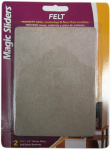 Magic Sliders L P 63040 Surface Protector, Felt Pad Blanket, Adhesive, Oatmeal, 4-1/2 x 6-In., 2-Pk.