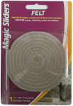 Magic Sliders L P 63050 Surface Protector, Felt Roll, Self-Stick, Oatmeal, 1/2 x 60-In.
