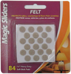 Magic Sliders L P 63118 Surface Protectors, Felt Pad, Self-Stick, Oatmeal, 3/8-In. Round, 84-Pk.