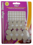 Magic Sliders L P 63920 Surface Protectors, Felt Pad, Self-Stick, Oatmeal, Assorted, 132-Pk.