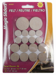 Magic Sliders L P 63922 Surface Protectors, Felt Pad, Self-Stick, Oatmeal, Assorted, 36-Pk.