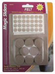 Magic Sliders L P 63979 Surface Protectors, Felt Pad, Self-Stick, Oatmeal, Assorted, 102-Pk.