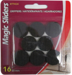Magic Sliders L P 77414 Surface Protectors, Gripper Pads, Self-Stick, 1-In. Round, 16-Pk.