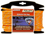 Wellington Cordage RMFPO1450 Visiflect Reflective Poly Rope, Safety Orange, 0.25-In. x 50-Ft.