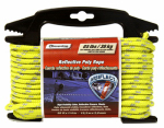 Wellington Cordage RMFPY1450 Poly Rope, Reflective, Yellow, 1/4-In. x 50-Ft.